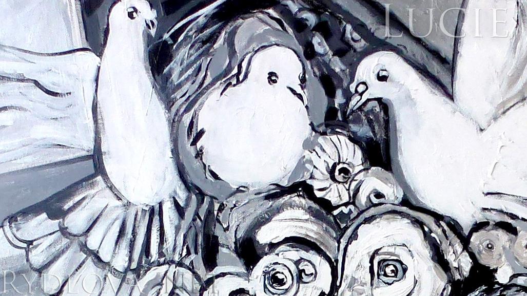 biennale du noir et blanc 2015 peinture aphrodite et libert peinture disponible. Black Bedroom Furniture Sets. Home Design Ideas